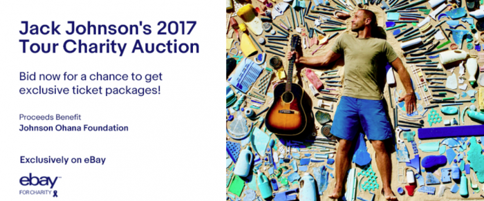 Jack Johnson's 2017 Tour Charity Auction